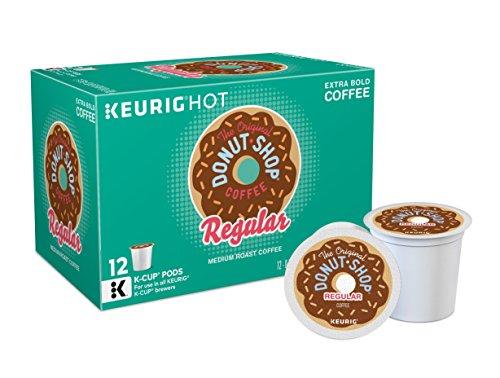 The Original Donut Shop Regular Keurig Single-Serve K-Cup Pods, Medium Roast Coffee, 12 count, Pack of 6