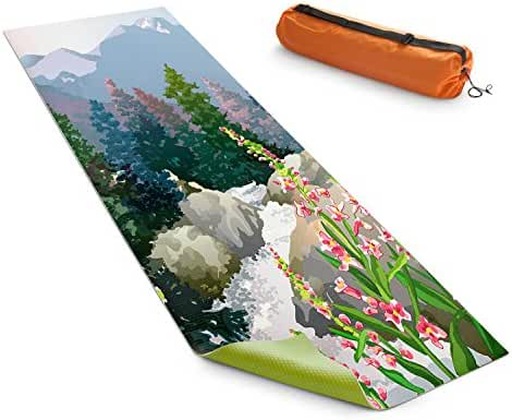 DiaNoche Yoga Mats by Anne Gifford Mountain Stream