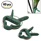 Plant and Flower Clips, Foneso Gardening Clips Flower Vine Clips Gardening Tools for Supporting Stems, Vines, Stalks - 40 PCS (Small & Large)