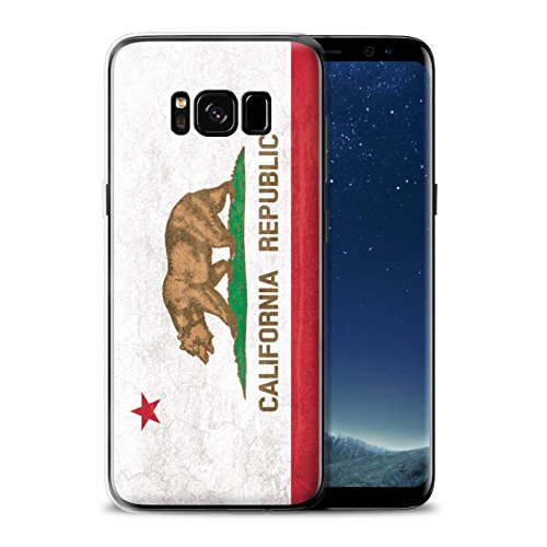 STUFF4 Gel TPU Phone Case/Cover for Samsung Galaxy S8 Plus/G955/California Design/Vintage USA State Flag Collection -