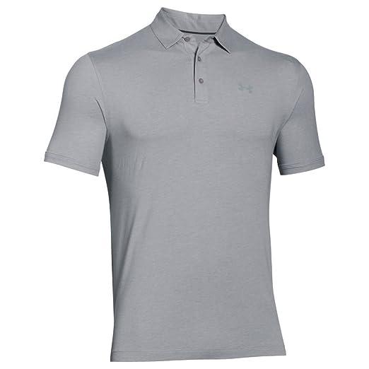 263c4d42 Under Armour Men's Charged Cotton Scramble Polo Shirt, True Gray Heather  /Steel, Medium