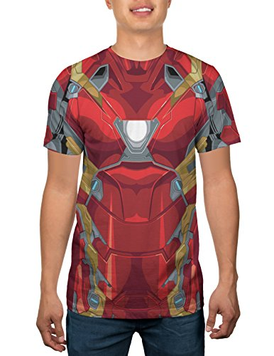 Marvel Iron Man Mens Costume T-shirt XXL - Winter Soldier Muscle Adult Costumes