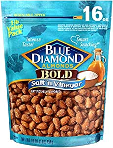 Blue Diamond Almonds, Bold Salt 'n Vinegar, 16 Ounce (Pack of 1)