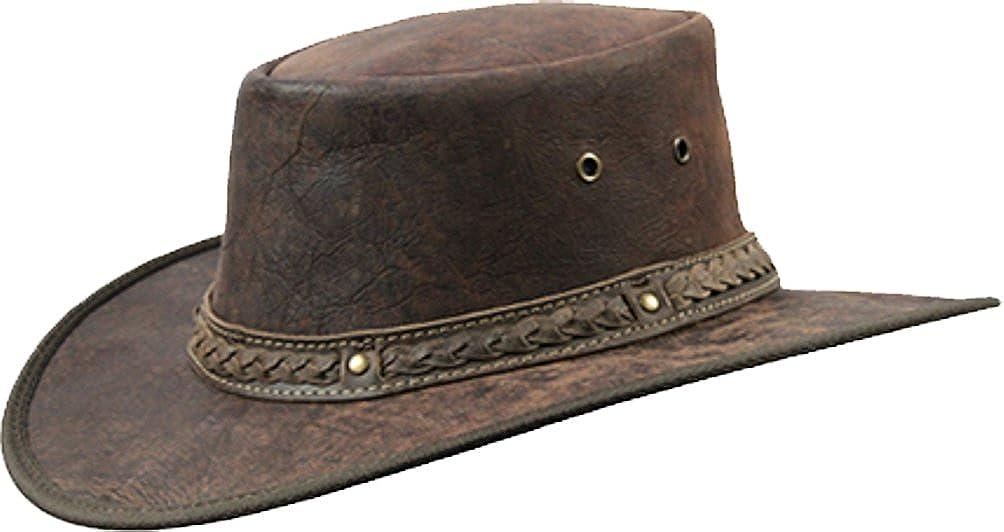 Barmah 1078 Red Rock Kangaroo Känguru Squashy Outback Leather Hat B1078