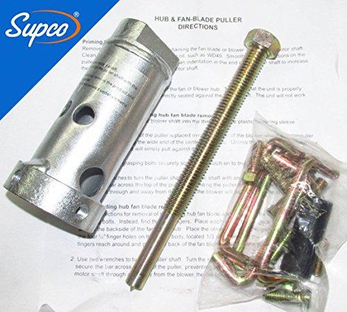 HEAVY DUTY COMMERCIAL HVAC AC MOTOR FAN BLADE PULLER WITH INSTRUCTIONS (Electric Duty Heavy Motor)