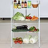 HPLL Storage Racks Multifunctional Kitchen Storage Rack Multi-layer Fruit And Vegetable Storage Shelf (Color : White)