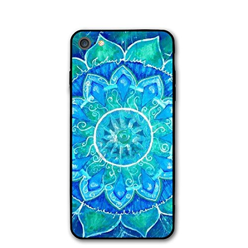 IPhone 7 Case Abstract Blue Painted Circle Protective Shockproof Anti-Scratch Resistant Slim Cover Case For IPhone 7 Hard - Pullman Painted