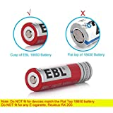 EBL 18650 Lithium Rechargeable Batteries 3000mAh 3.7V (2 Pack) and Li-ion 18650 18500 14500 Battery Charger (Upgraded)