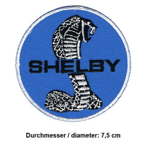 FORD MUSTANG Shelby GT 500 Cobra Racing Nascar Motorsport Patch Sew Iron on Embroidered - Mustang Patch