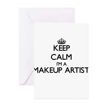 CafePress - Keep Calm I'm A Makeup Artist Greeting Cards - Greeting Card, Note Card, Birthday Card, Blank Inside Matte: Amazon.co.uk: Office Products