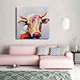 SEVEN-WALL-ARTS-100-Hand-Painted-Oil-Painting-Animal-Stretched-and-Framed-Ready-to-Hang-for-Living-Room