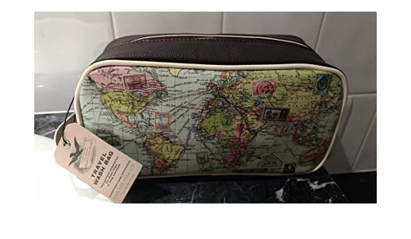 Amazon wild wolf brown mens travel range dopp kit vintage amazon wild wolf brown mens travel range dopp kit vintage world map style travel luggage toiletry bag travel kit toiletry bag for men beauty gumiabroncs Image collections