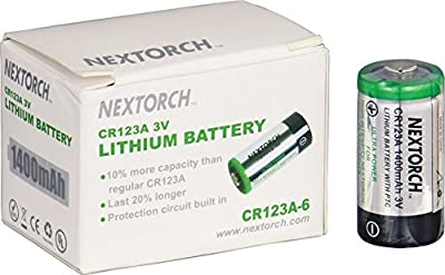 NexTorch 123A6P Replacement lithium batteries