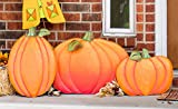Big Metal Pumpkin Fall Yard and Porch Decoration