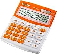 Calculadora Elgin com 12 dígitos, duplo zero MV-4128 Laranja, Elgin, 42MV41280000, Laranja