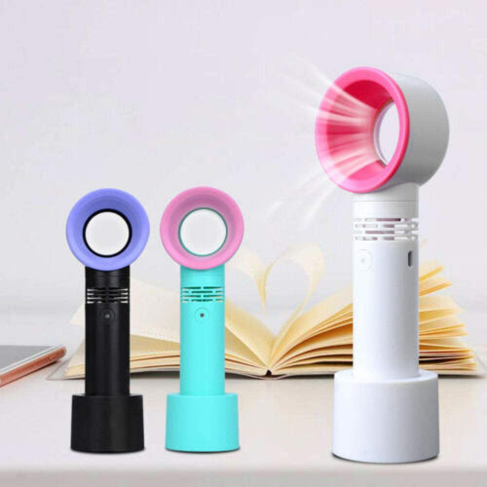 Mini USB Cable No Leaf Handy Fan 360/° Mute Portable Bladeless Handheld Cooler