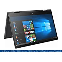 Envy x360 2018 HP Ryzen Micro-edge 2-in-1 Flagship Notebook   15.6 FHD MultiTouch Display   4-Core AMD Ryzen 5 2500U Up to 3.6Ghz   8GB DDR4   1TB HDD   Webcam   Backlit Keyboard   Radeon Vega
