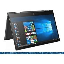 "Envy x360 2018 HP Ryzen Micro-edge 2-in-1 Flagship Notebook   15.6"" FHD MultiTouch Display   4-Core AMD Ryzen 5 2500U Up to 3.6Ghz   8GB DDR4   1TB HDD   Webcam   Backlit Keyboard   Radeon Vega"