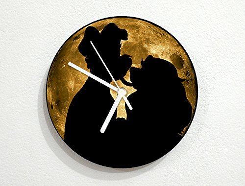 Lady & The Trump - Universe Stars Space Galaxy Solar Planet - Custom Name Wall Clock by inPhoenix