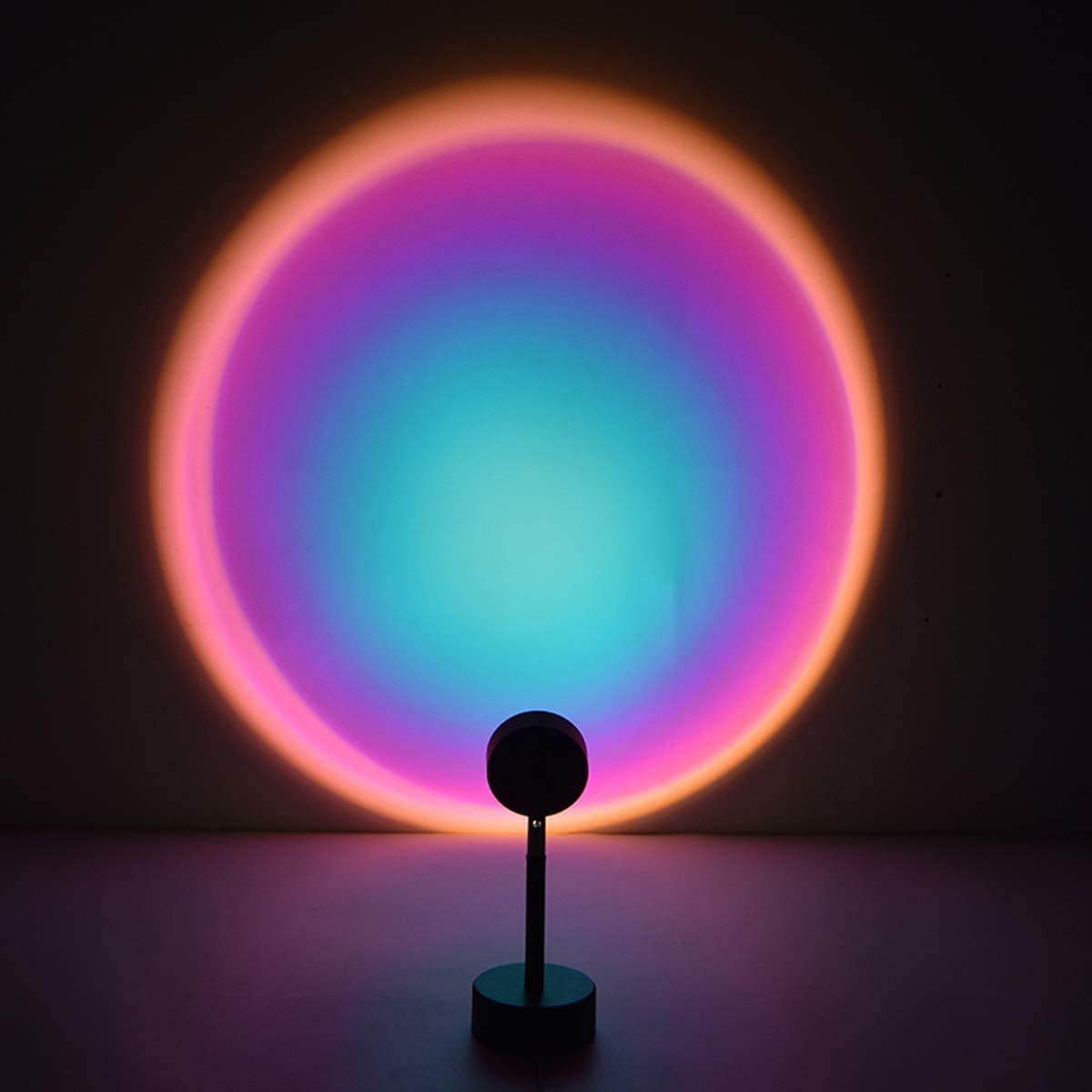 Sunset Night Light Projector Led Table Lamp,180 Degree Rotation Rainbow Projection Lamp,USB Charging,Romantic Led Light for Kids Adults Home Party Living Room Bedroom Decor (Rainbow 4)