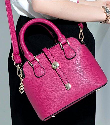 NiSeng Damen Schultertasche Vintage PU Leder Handtaschen Elegent Umhänge Tasche Rose LsovV2HAp