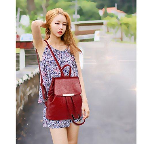 Zaino delle ragazze delle signore delle donne 2017 nuova borsa a tracolla femminile versione coreana della borsa di onda onda semplice uomini selvatici borsa zaino di moda per il tempo libero zaino (t
