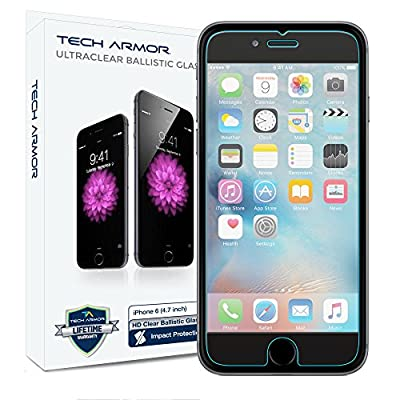 Tech Armor Ballistic Glass Screen Protector for iPhone 6/6S 4.7-Inch from Tech Armor