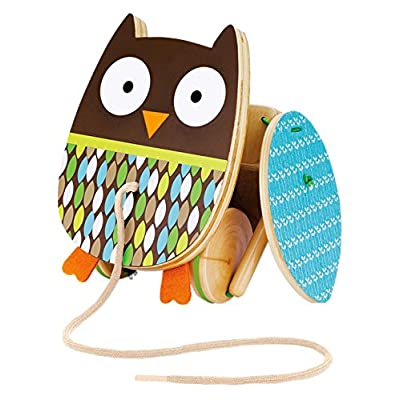 Skip Hop Baby Treetop Friends Flapping Owl Pull Toy : Push And Pull Baby Toys : Baby