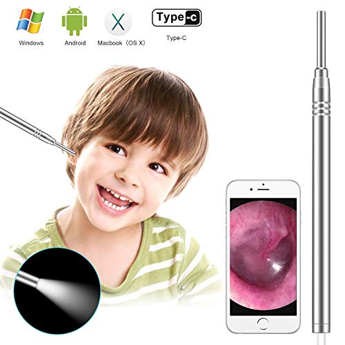 Otoscope Ear Cleaning Kit for Android, 3.9mm Diameter HD Ear Scope Camera Earwax Removal Kit Otoscope Set Endoscope Ear Pick Cleaning Tools Ear Cleaner for Android, Window and Mac (General Otosope)