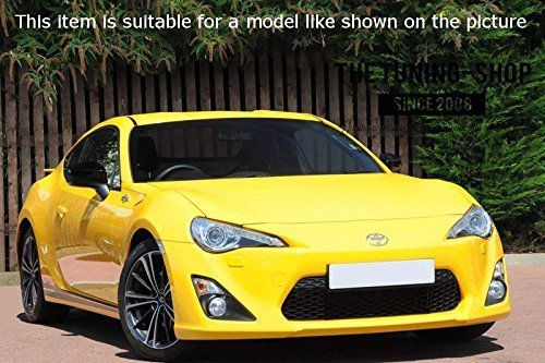 Pour Toyota gt-86/2012 16/manuel Gu/être Gear Shift de coffre noir en cuir italien rouge 86/Logo Brod/é