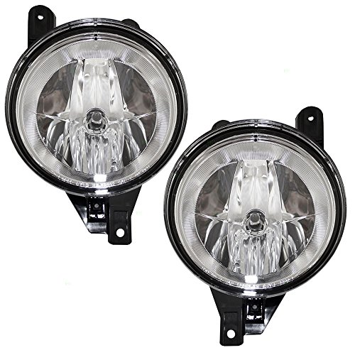 Driver and Passenger Fog Lights Lamps Replacement for Lincoln Pickup Truck SUV 1L7Z15200AD 1L7Z15200AC