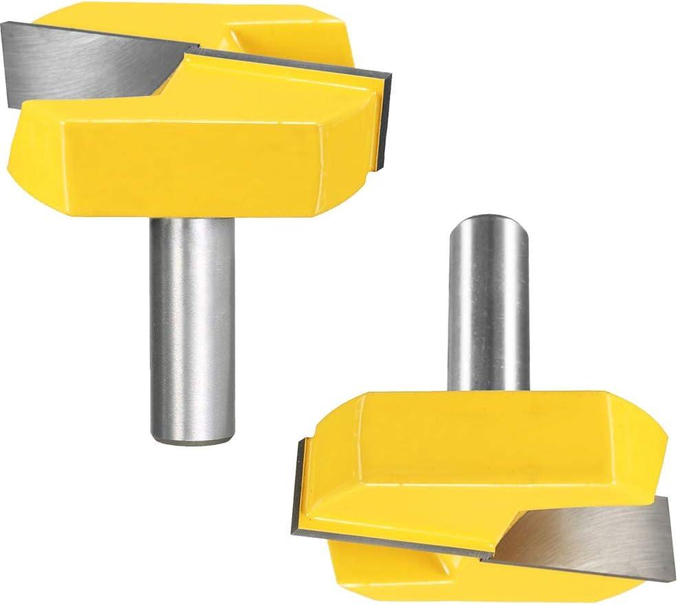 Pour le routage des mod/èles. Fraise /à gabarit de 1,27 cm x 2,5 cm x 1,9 cm Double cannelure pour une finition lisse Tige en acier tremp/é robuste