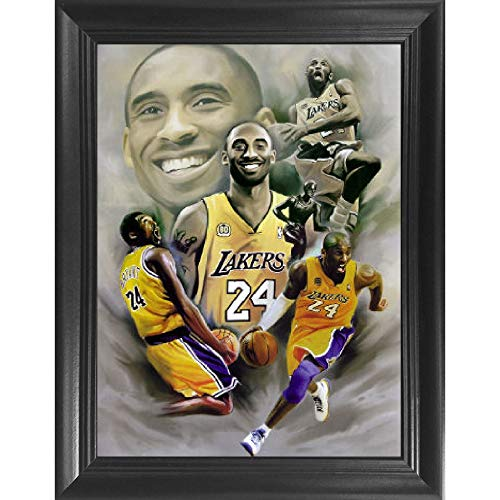 Kobe Bryant 3D Poster Wall Art Decor Framed Print | 14.5 x 18.5 | LA Lakers Posters & Pictures | NBA All Star Basketball Legend | Black Mamba | Memorabilia Gifts for Guys & Girls Bedroom Walls