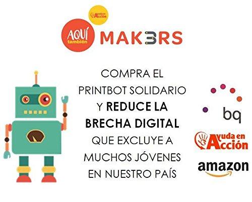 BQ PrintBot Solidario - Marco para kit de robótica, color amarillo: Amazon.es: Juguetes y juegos