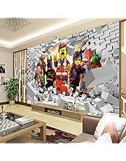 WHYBH 3D Wallpaper Moderne muurschildering zelfklevend (B) 300X (H) 210Cm wand 3D Movie karakter Liga behang muurschildering Cartoon behang kinderkamer kamerdecoratie tv achtergrond muur fotobehang