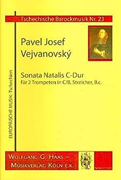 Sonata natalis: para 2 trompeta,: Vejvanovsky, Pavel Josef ...