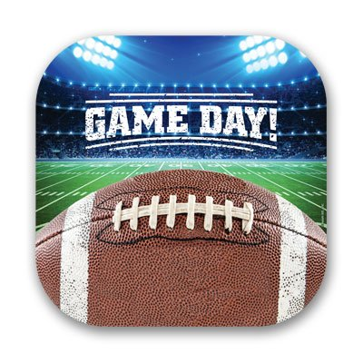 """Game Day! Football Tailgate Party 7"""" Plates (24)"""