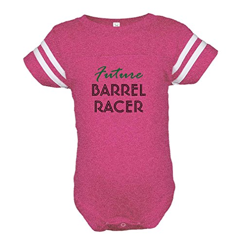 Cute Rascals Future Barrel Racer Sport Combed Ring-Spun Cotton Tapped Neck Unisex Baby Sports Bodysuit Football Jersey - Hot Pink, 12 (Pro Barrel Racer)