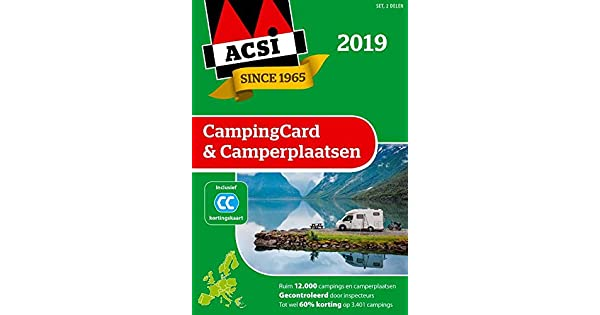 Amazon.com: ACSI CampingCard & Camperplaatsen 2019 set 2 ...