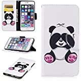 jack and sally iphone case - iPhone 6 Plus/6S Plus Case, UZER Painted Pattern Shockproof [Kickstand Feature] PU Leather Folio Flip Wallet Case with Cash/Card Slots and Magnetic Clasp Case for iPhone 6 Plus/iPhone 6S Plus 5.5