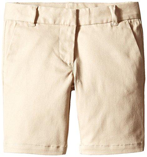 Scout Uniform Shorts (Scout + Ro Little Girls' Uniform Twill Flat-Front Short, Khaki, 6)