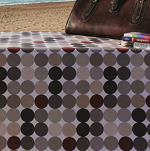 Kevkus Jacquard Nappe de Table Coton Premium Revêtu Fibratex Hopper Ovale (140 X 260 cm Ovale, FBHB-001)