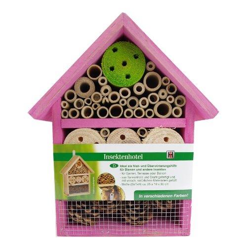 Insektenhotel Insektenhaus Bienen Florfliegen Marienkäfer Käfer Rosa Haushalt International