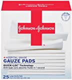 JOHNSON & JOHNSON Band-Aid First Aid Gauze Pads, 4 Inch x 4 Inch, 25 Count (Pack of 2)
