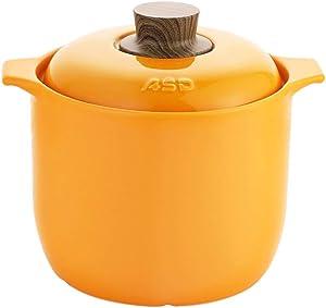 HOMRanger High Capacity Ceramic Casserole,Sustainable Saucepan,Chinese Medicine Jar,Household Portable Stone Pot,Multifunction Dutch Oven A 4.8l(5.07 Quart)