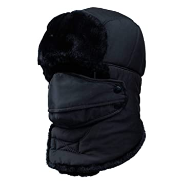 ZHAOXIANGXIANG Thermal Hat Trooper Earflap Nieve Negro Hat ...