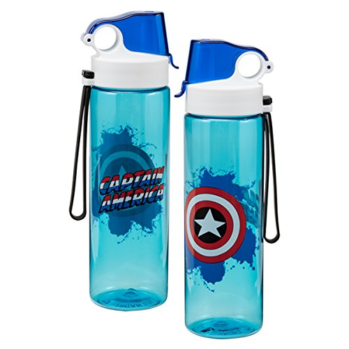 Vandor 26675 Marvel Captain America 24 Ounce Tritan Sport Bottle Blue