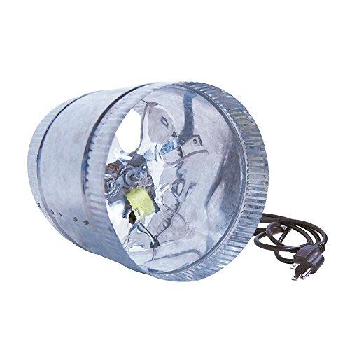 """51 aJdE9VML - GrowBright 8"""" Inline Duct Booster Fan - 300/500 cfm"""