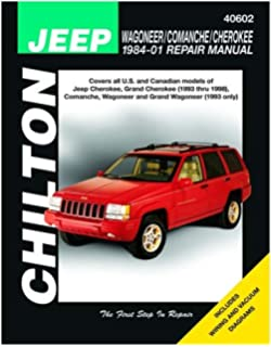 Chilton Wagoneer / Comanche / Cherokee 1984-1998 Repair Manual (40602)