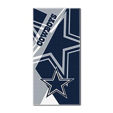 NFL Dallas Cowboys  Puzzle  Beach Towel, 34 x72 , Navy Blue